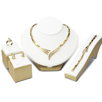 New High Fashion Dubai Jewelry Set 18K Gold Plated Nigerian Wedding African Beads Jewelry Sets Parure