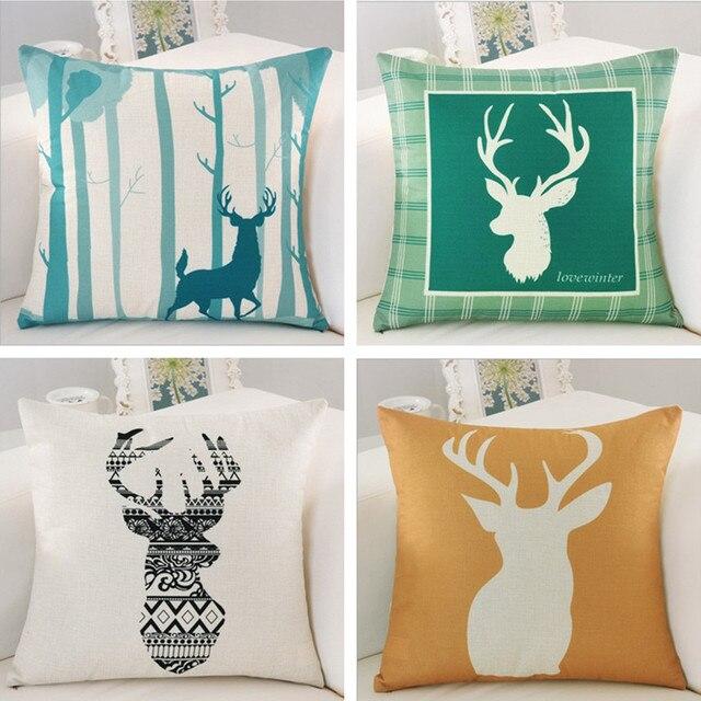 Wholesale Deer Pillow Cover Decorative Cushion Cover Linen Cotton Extraordinary Decorative Pillow Covers Wholesale