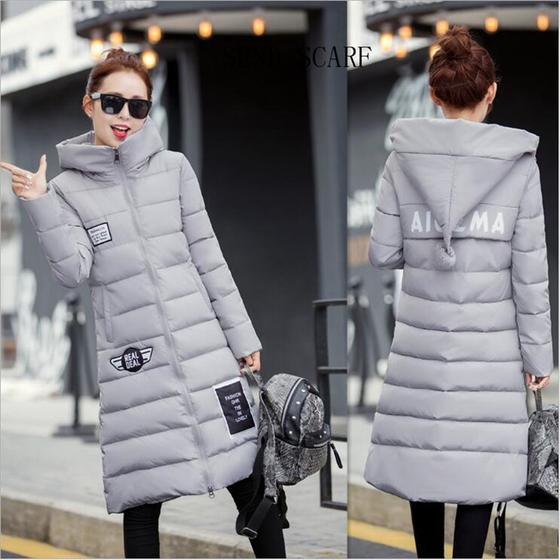 2016 Women WinterJacket Coat Big Yards Down Jacket han Edition Cultivate One s Morality Even Cap