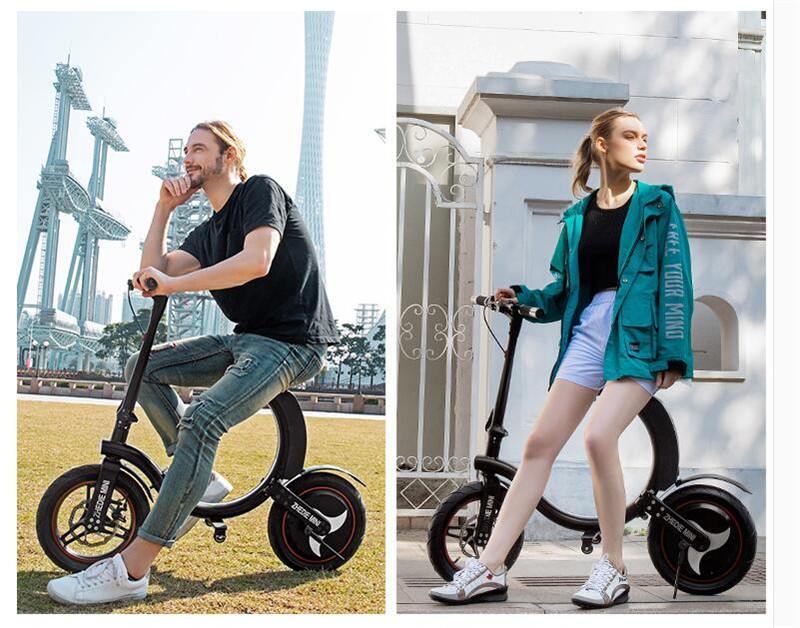 Daibot Mini Electric Bicycle Two Wheel Electric Bicycle 14 Inch 350W 36V 32KMH Foldable Portable Adults Electric Bicycle Bike   (10)