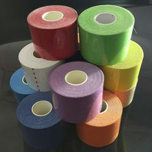 Super sell-5Mx5cm Kinesiology Elastic Tape Rope Sports Physio Muscle Strain Injury Support 6 Roll - 6 Colour, 6pcs/set