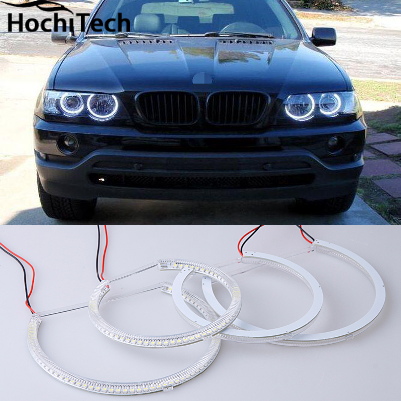 Hot style SMD angel eyes super bright white led halo light kit for BMW E53 X5 1999 2000 2001 2002 2003 2004 2005 2006 super bright led angel eyes for bmw x5 2000 to 2006 color shift headlight halo angel demon eyes rings kit