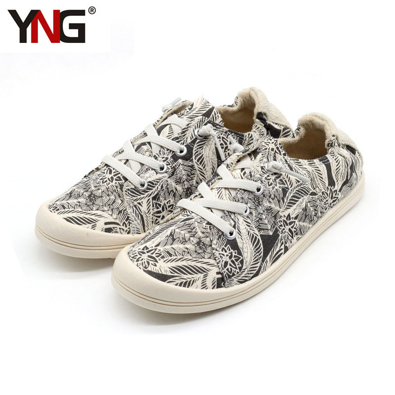 YNG Canvas Shoes Spring Summer Women's Fashion Stan Walking Flats Women Sneakers Shoes Tenis Feminino Casual Size 36-39 vintage embroidery women flats chinese floral canvas embroidered shoes national old beijing cloth single dance soft flats