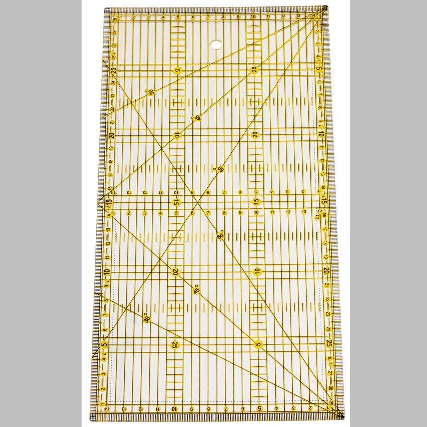 1 pieza 30*15 Cm regla de retazos herramientas de acolchado de alta calidad Material acrílico transparente regla escala escuela Supplie AC-30 AC-30B