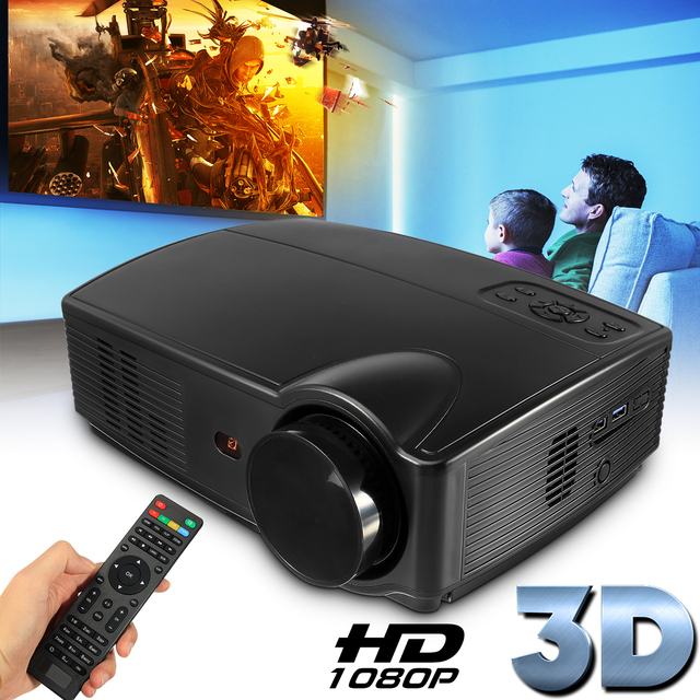 Flash Promo SV-328 330 Lumens LCD Technology Smart Projector For High-definition Home Theater Small Office AV VGA cable