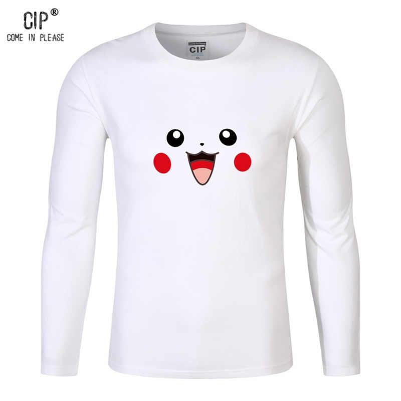 ... 100% хлопок мультфильм Покемон для детей Пикачу Enfant для мальчиков  футболка с длинным рукавом Bobo ... 687495740548f
