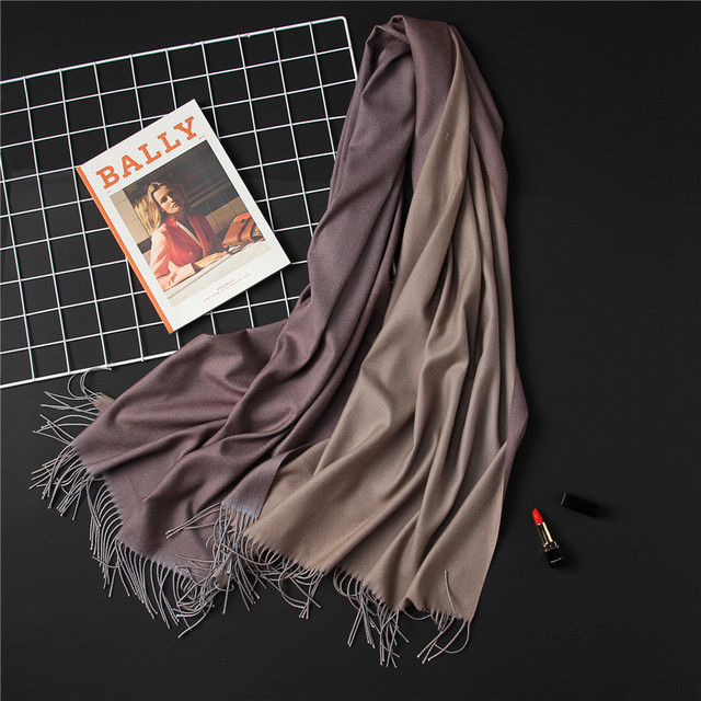 2018 winter women scarf fashion solid soft cashmere scarves for ladies pashmina shawls and wraps bandana female foulard Tassel 1