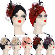 Women Flowers Muslim Turban Hat Indian Headscarf Cancer Chemo Cap Prom Headwear