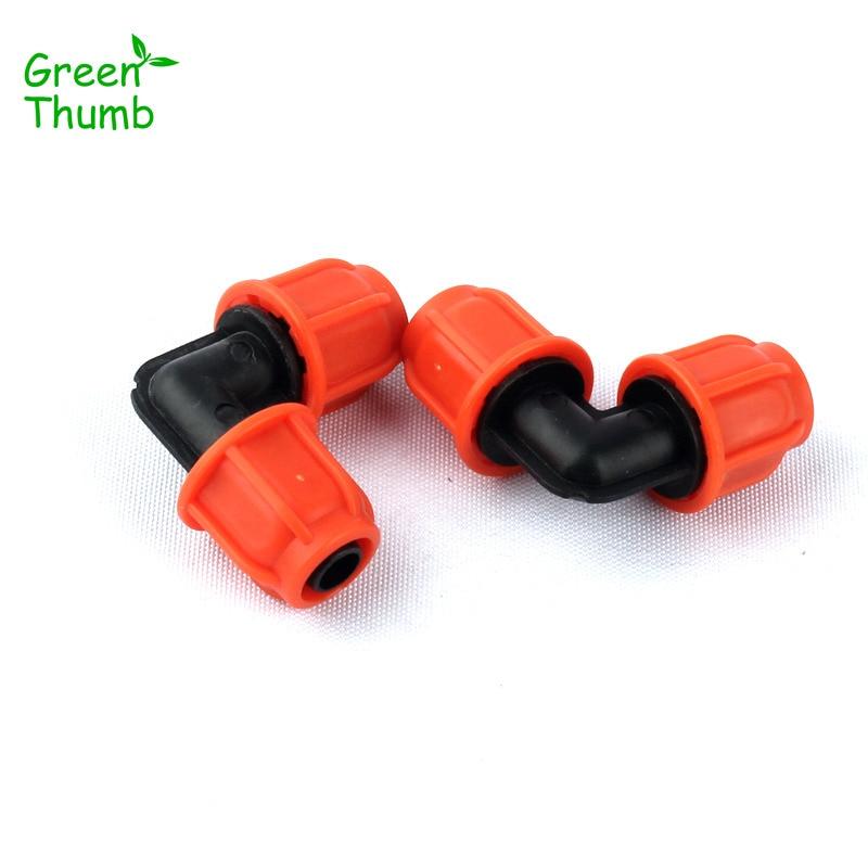 7pcs Orange 8/11mm Garden Hose Equal Elbow Thread Lock 90 Degree Hose Elbow Quick Connector Plant Irrigation System Fittings