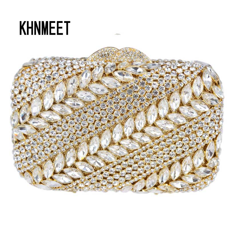 Green Crystal evening bag Luxury diamond women clutch bag Ladies party purse Dinner female pochette Feast Banquet Bag SC296 europea and american high end luxury crystal diamond evening bag green full diamond evening clutch banquet party prom dinner bag