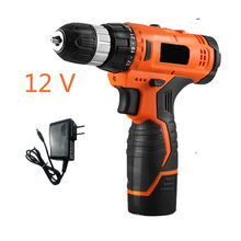 DIY 12V  impact screwdriver drill electric cordless dril lwaterproof battery screwdriver With LED power tools