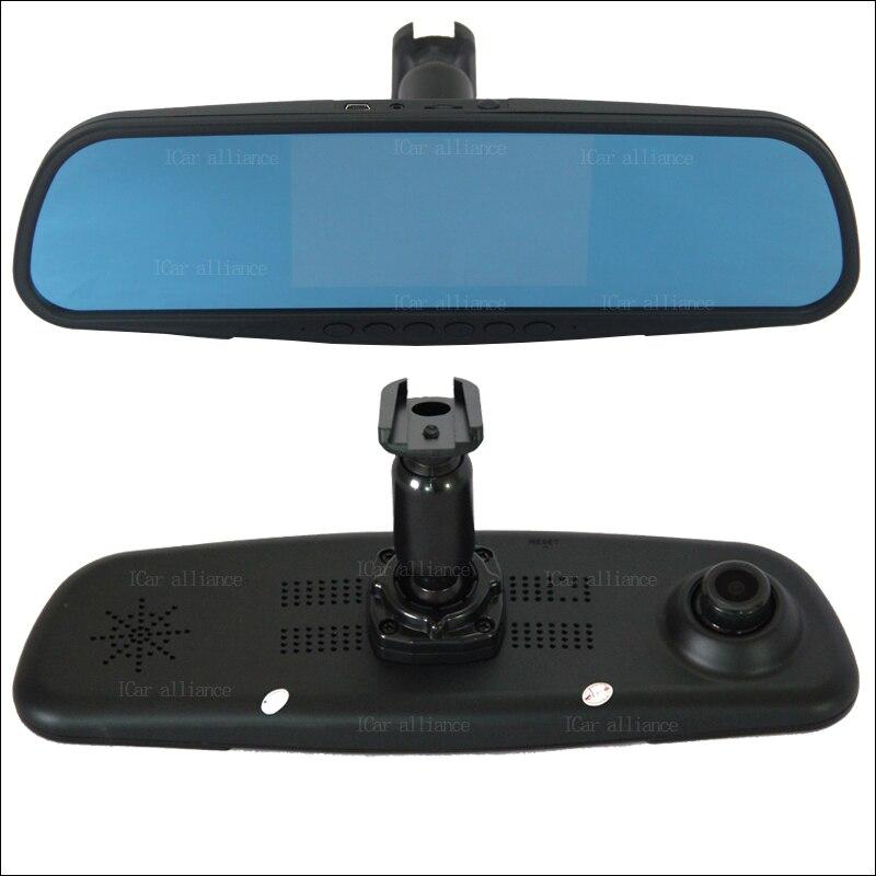BigBigRoad pour ford Fiesta voiture DVR caméra avant double lentille rétroviseur enregistrement vidéo DashCam avec support d'origine