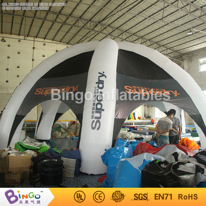 8M Multifunctional inflatable outdoor dome tent inflatable advertising tent with 6 legs led light for sale event toy inflatable cartoon customized advertising giant christmas inflatable santa claus for christmas outdoor decoration