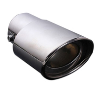 New Chrome Stainless Steel Car Rear Exhaust Pipe Tail Muffler Tip 62MM