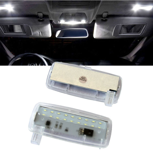2Pcs No Error 18SMD LED Vanity Mirror Light Sun Visor Lamp For BMW E93 E93  LCI E88 Rolls-Royce RR2 Drophead RR3 24bb3f0b84b