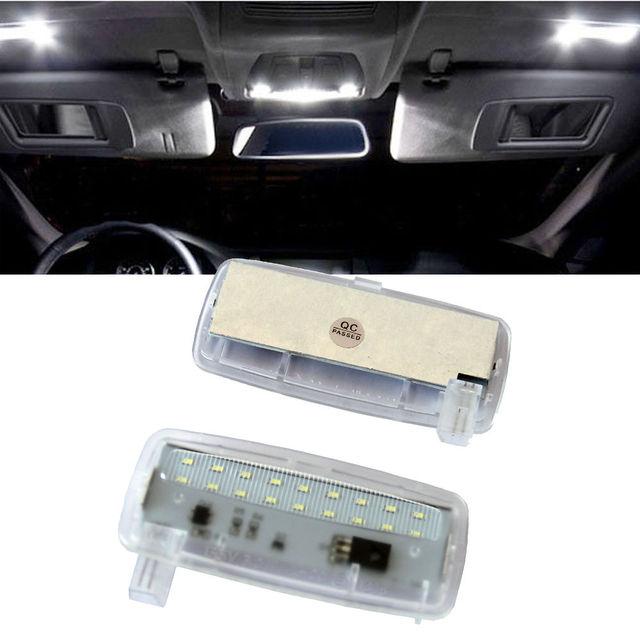 2Pcs No Error 18SMD LED Vanity Mirror Light Sun Visor Lamp For BMW E93 E93  LCI E88 Rolls-Royce RR2 Drophead RR3 00e6b7a7884