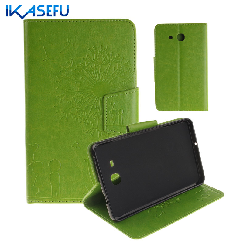 IKASEFU Filp Stand Case For Samsung Galaxy TAB A 7 0 inch PU Leather Tablet Cover