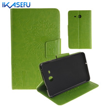 IKASEFU Filp Stand Case For Samsung Galaxy TAB A 7.0 inch PU Leather Tablet Cover For samsung galaxy tab A SM-T280 T280 tpu Back