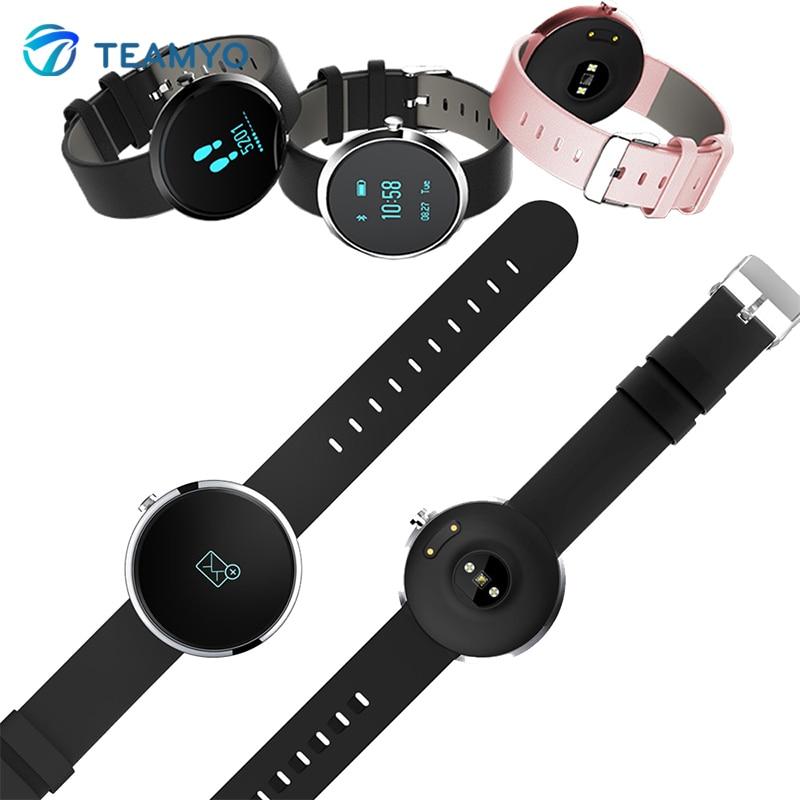 imágenes para Teamyo H09 Banda de Frecuencia Cardíaca Bluetooth Inteligente Monitor de Presión Arterial de Fitness Pulsera Rastreador Pasómetro Reloj Para iOS Android