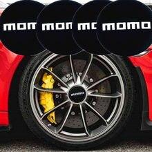 Adesivo cdiy momo para carro, pçs/sets 56.5mm para bmw e46 volkswagen ford focus 2 3 toyota peugeot 307 audi adesivo do centro da roda do logotipo