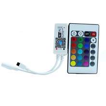 2019 Baru Kedatangan Dijual CE RoHS 3528 5630 5050 LED Strip Lampu IR Remote Controller Mini Dc12v RGB 24key dengan WIFI Receiver(China)