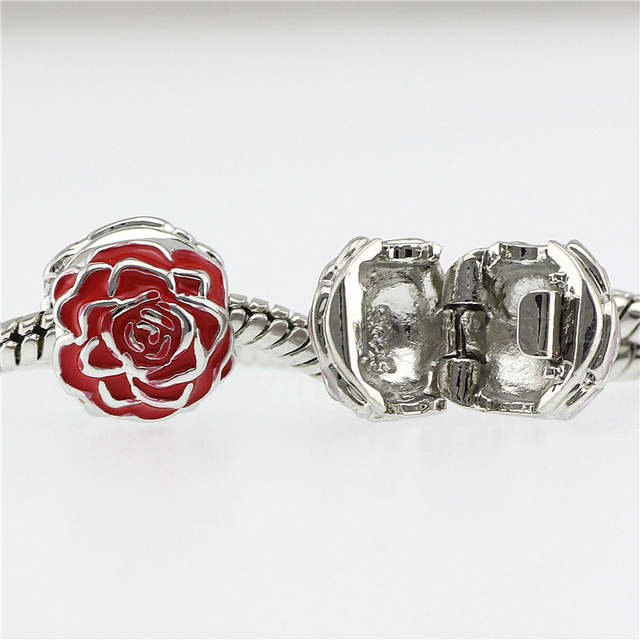 993cfe38a placeholder 5 colour flower beads Fits Pandora Charms bracelets safety Bead  Clip Stopper Star Pattern European Charm