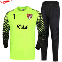 2017 New Quick Dry Boys Kids Youth Soccer Training tracksuits Suits Goalkeeper Jerseys Sets survetement football Uniforms