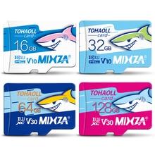 "MIXZA הי""ד זיכרון כרטיס 256GB 128GB 64GB U3 80 MB/S 32GB מיקרו sd כרטיס Class10 UHS 1 פלאש כרטיס זיכרון Microsd TF/SD כרטיסים"