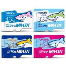 MIXZA HY การ์ดหน่วยความจำ 256GB 128GB 64GB U3 80 เมกะไบต์/วินาที 32GB Micro sd card Class10 UHS 1 การ์ดหน่วยความจำ Microsd TF/SD การ์ด
