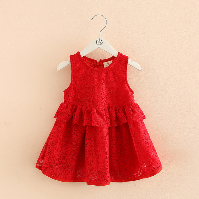 2063ece58b4 Baby Girl Clothes Infant Party Dress For 2 Year Girl Baby Birthday Frock  Newborn Toddler Girl Christening Gown Red Baptism Dress