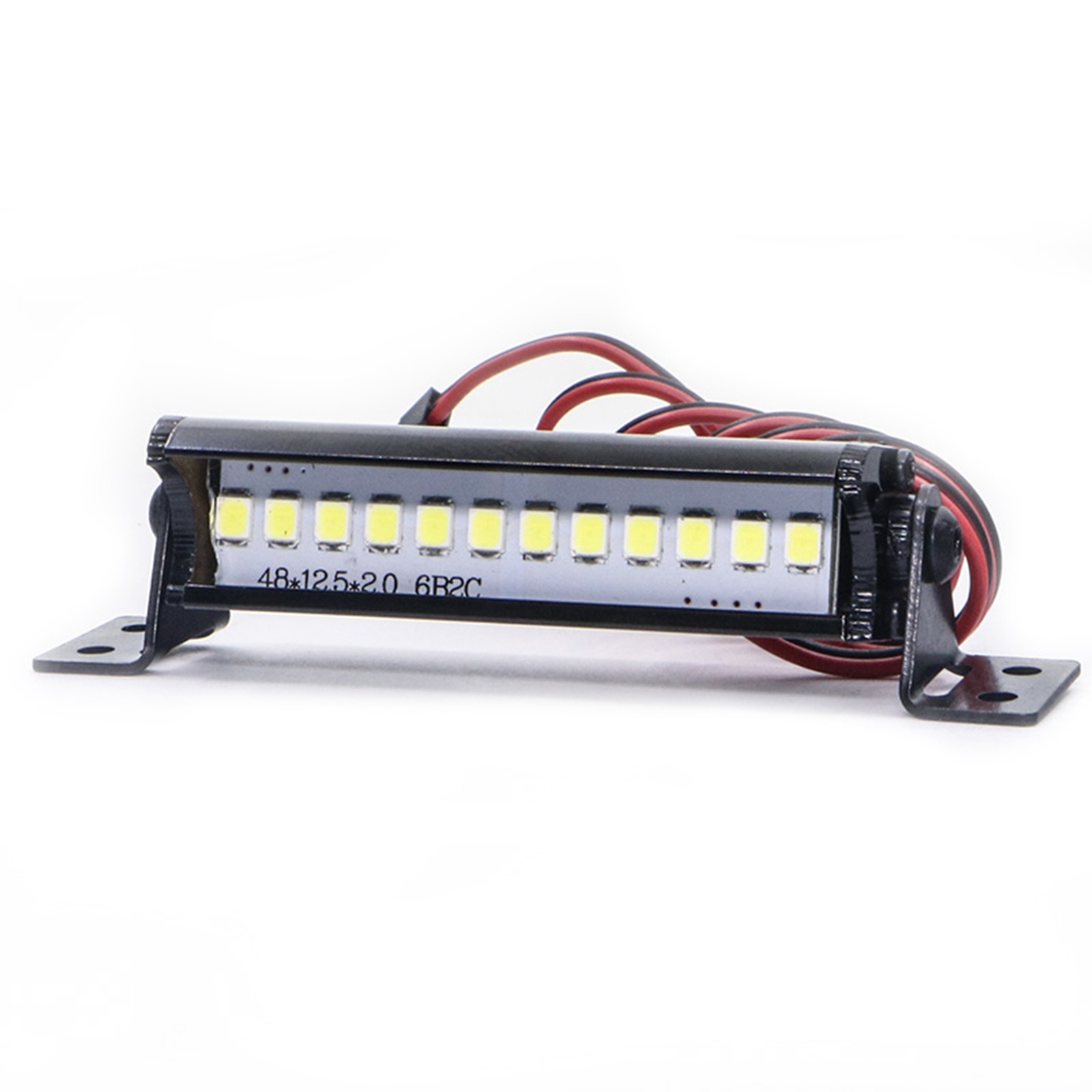 For 1/10 RC Crawler Car LED Light Bar For TRX4 SCX10 KM2 CC01LEDSuper Bright 12LED Light Bar Universal Accessories