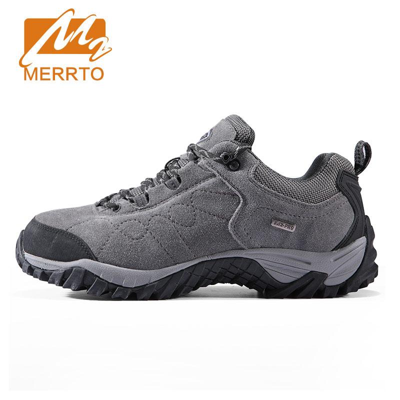 Merrto Suede Leather Hiking Shoes Men Women Trekking Shoes Men Outdoor Sports Sneakers Walking Climbing Shoes Mens Hiking Boots 2017 merrto men walking shoes outdoor sports sneakers suede mesh for men free shipping mt18575