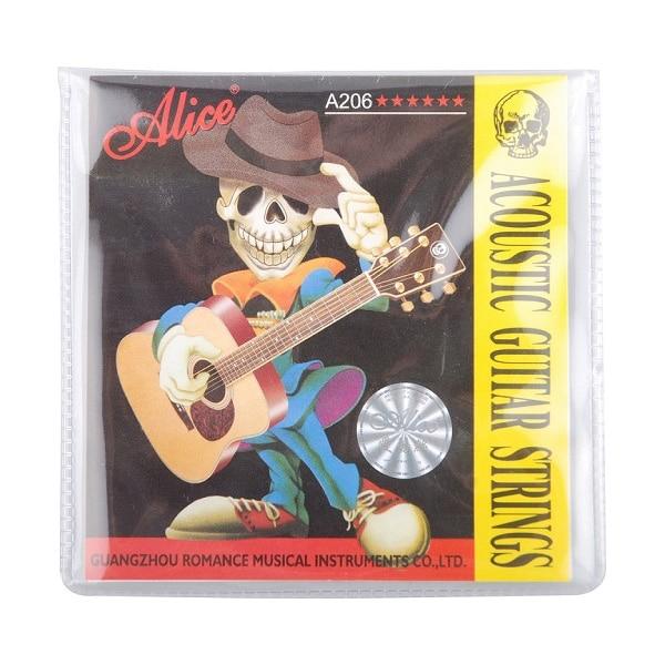 1 Set Alice Acoustic Folk Guitar Strings 011-052 Inch Super Light Steel Core 6-string