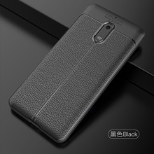 Wolfsay Soft TPU Case For Nokia 6 2017 Leather Texture Silicone Phone Cover Business Coque for TA-1021