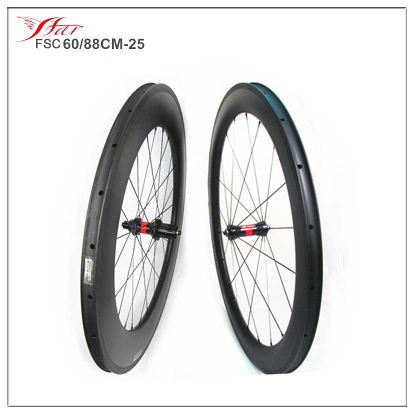 Far Sports Road carbon wheelsets 60mm 88mm deep clincher rims high TG braking track DT 240 hub 36 ratchets upgraded for free