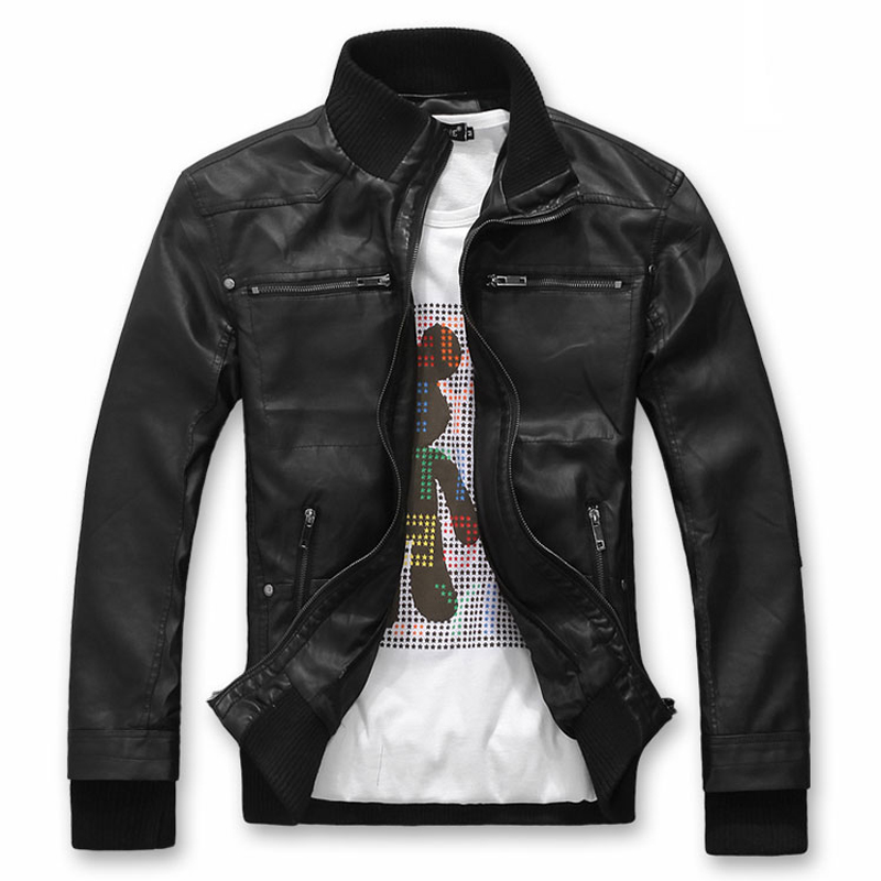 Online Buy Wholesale cheap mens leather bomber jackets from China ...