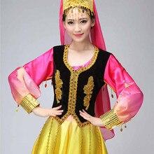 New xinjiang Turpan minority dance costumes Chinese folk dance wear eth