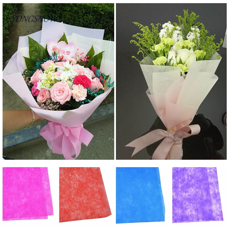 10 Sheets Cotton Paper Bouquet Wrapping Material Paper Flower Christmas Gift Packing Material Wedding Decorations Paper