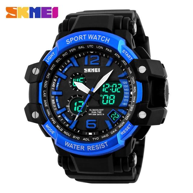 2017 Hot Sale Men Watches SKMEI Luxury Brand Quartz Clock Digital LED Watch Army Military Sport Watch relogio masculino