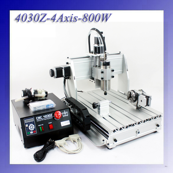 4 Axis 800W Spindle  CNC 4030Z CNC Engraving Machine 1.5kw VFD CNC Router Water-Cooling usb port 3020z s cnc3020 800w spindle 1 5kw vfd cnc router water cooling metal engraving machiney cnc machine cnc 3020
