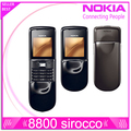 Original Nokia 8800 sirocco Original unlocked phone 128MB Memory 2.0MP Camera Bluetooth FM MP3 Player