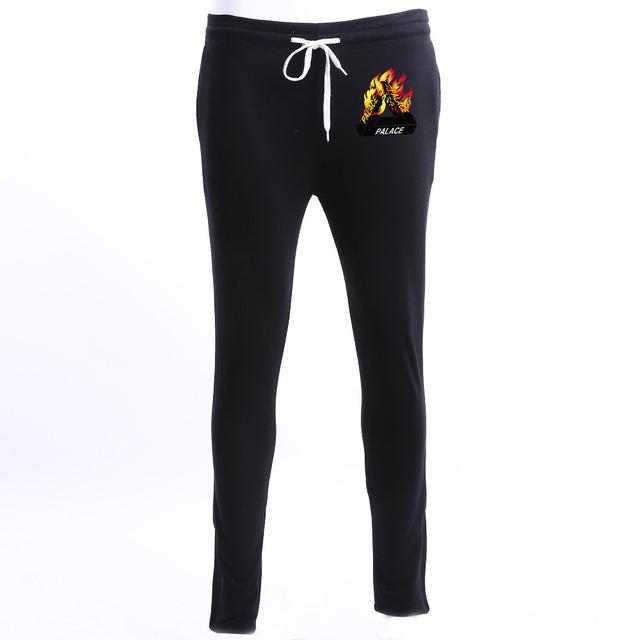Pantalones Patinetas Palacio caliente Hombres Mujeres Alta Calidad del 1:1 Ropa 100% Algodón Chándal Kanye West Hip Hop Pantalones Patinetas Palacio