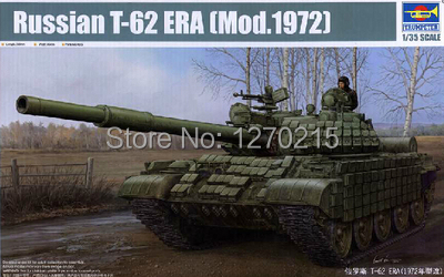 Trumpeter model 01556 1 35 Russian T 62 ERA Mod 1972 plastic model kit