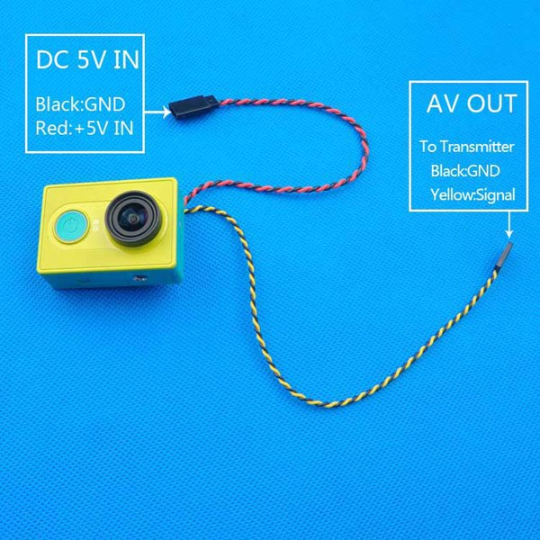 FPV Video Output Transmission Cable Line For XiaoMi Yi Sport Action Camera image