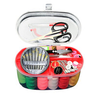 Convenient Portable Design Sewing Kit Crochet Full Set Threader Needle Measure Tape Scissor Thimble Sewing Tools