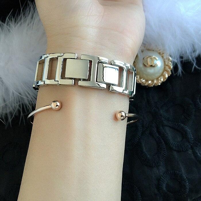 Karšto pardavimo Ženevos aukso sidabro moterų suknelė žiūrėti - Vyriški laikrodžiai - Nuotrauka 5