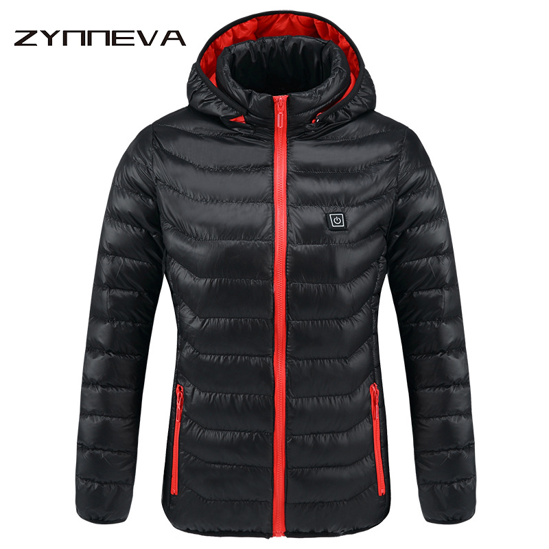 ZYNNEVA New Women Heated Jackets Winter Thermal Warm Hooded Heating Clothing USB Constant Temperature Waterproof Coats