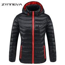 ZYNNEVA Новый Для женщин с подогревом куртки зимние Термальность теплый с капюшоном нагрева Костюмы USB постоянная Температура Водонепроницаемый пальто GK6205