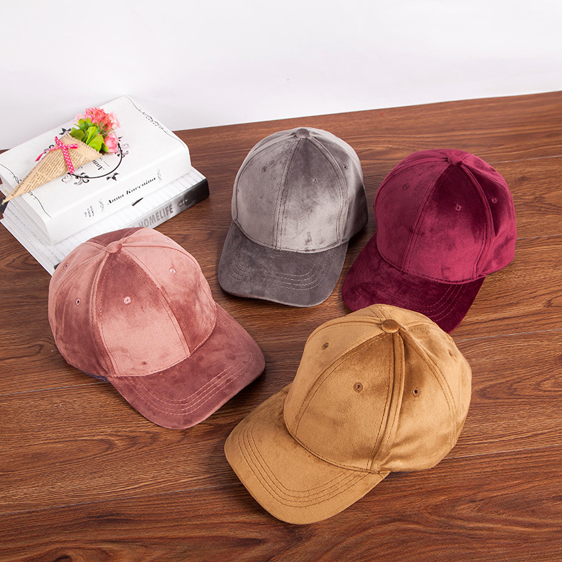 Baseball     Cap   Solid color casual wild hip hop hat youth outdoor velvet Korean version of the   cap   outdoor leisure visor women hat