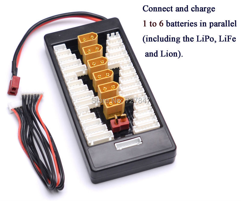 High Quality 2S-6S XT60 Plug Parallel Charging Board XT60 T Plug  4.0mm Banana Adaptor Board For Imax B6 B6AC Lipo Charging